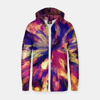 Thumbnail image of color explosion gogh pattern gols Zip up hoodie, Live Heroes