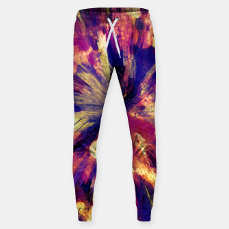 Thumbnail image of color explosion gogh pattern gols Sweatpants, Live Heroes