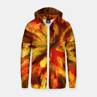 Thumbnail image of color explosion gogh pattern goee Zip up hoodie, Live Heroes