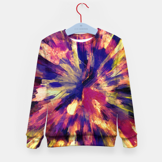 Thumbnail image of color explosion gogh pattern gols Kid's sweater, Live Heroes