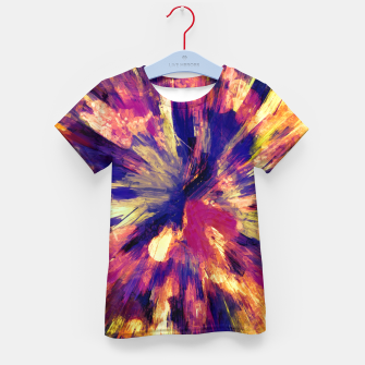 Thumbnail image of color explosion gogh pattern gols Kid's t-shirt, Live Heroes