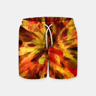 Thumbnail image of color explosion gogh pattern goee Swim Shorts, Live Heroes