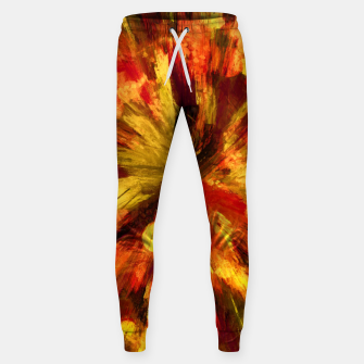 Miniatur color explosion gogh pattern goee Sweatpants, Live Heroes