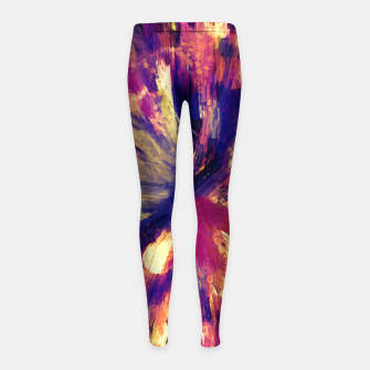 Thumbnail image of color explosion gogh pattern gols Girl's leggings, Live Heroes