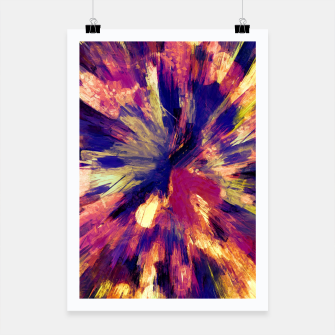 Miniaturka color explosion gogh pattern gols Poster, Live Heroes