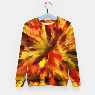 Thumbnail image of color explosion gogh pattern goee Kid's sweater, Live Heroes