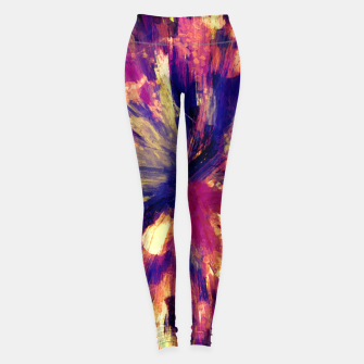 Thumbnail image of color explosion gogh pattern gols Leggings, Live Heroes