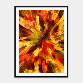 Thumbnail image of color explosion gogh pattern goee Framed poster, Live Heroes