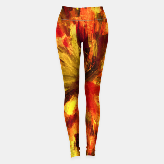 Thumbnail image of color explosion gogh pattern goee Leggings, Live Heroes