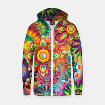 Thumbnail image of Colorful Psychedelic Zip up hoodie, Live Heroes