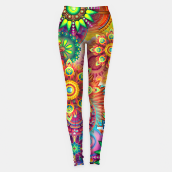 Miniatur Colorful Psychedelic Leggings, Live Heroes