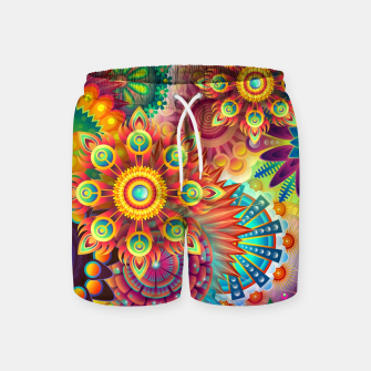 Miniatur Colorful Psychedelic Swim Shorts, Live Heroes
