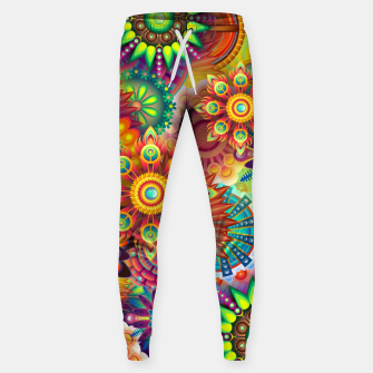 Miniatur Colorful Psychedelic Sweatpants, Live Heroes