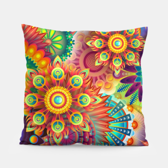 Miniatur Colorful Psychedelic Pillow, Live Heroes
