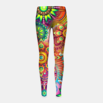 Miniatur Colorful Psychedelic Girl's leggings, Live Heroes