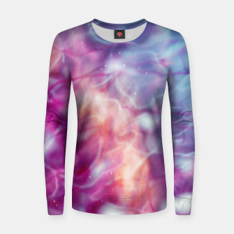 Thumbnail image of Pink blue abstract Women sweater, Live Heroes