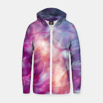 Thumbnail image of Pink blue abstract Zip up hoodie, Live Heroes
