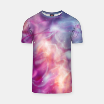 Thumbnail image of Pink blue abstract T-shirt, Live Heroes