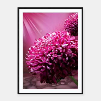 Thumbnail image of majestic flowers Framed poster, Live Heroes