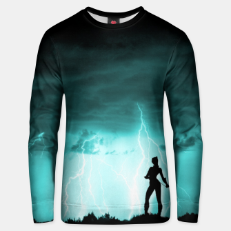 Thumbnail image of Cat on Stormy Night  Unisex sweater, Live Heroes