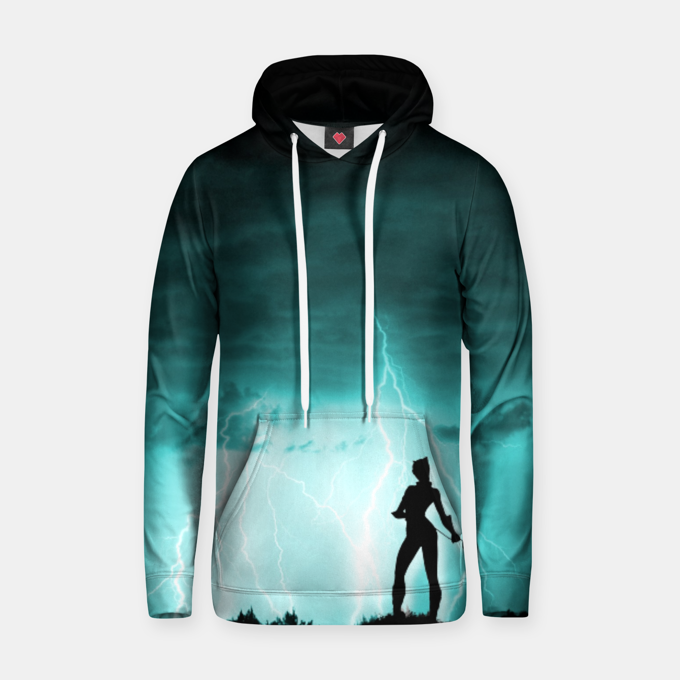 Imagen de Cat on Stormy Night  Hoodie - Live Heroes