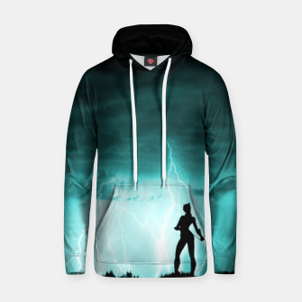 Thumbnail image of Cat on Stormy Night  Hoodie, Live Heroes