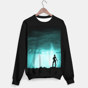Thumbnail image of Cat on Stormy Night  Sweater regular, Live Heroes