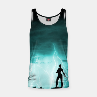 Miniatur Cat on Stormy Night  Tank Top, Live Heroes