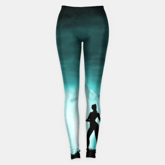 Thumbnail image of Cat on Stormy Night  Leggings, Live Heroes