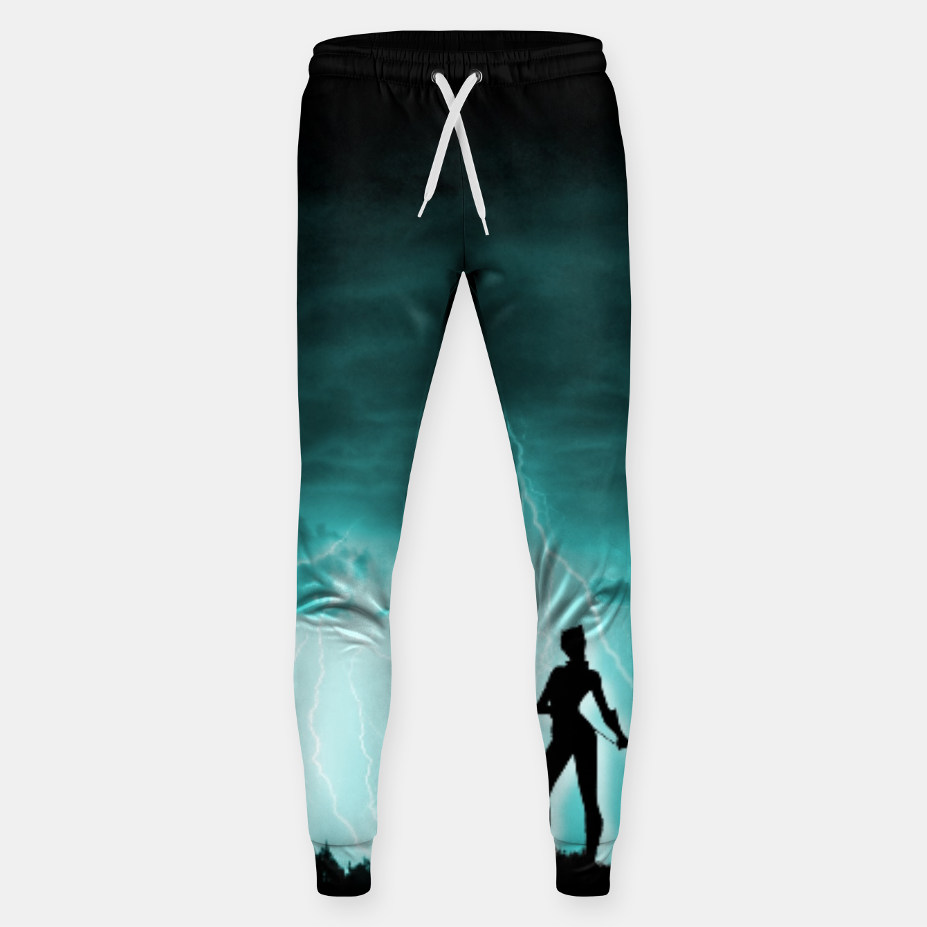Imagen de Cat on Stormy Night  Sweatpants - Live Heroes