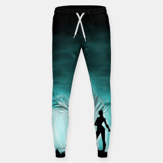 Cat on Stormy Night  Sweatpants imagen en miniatura
