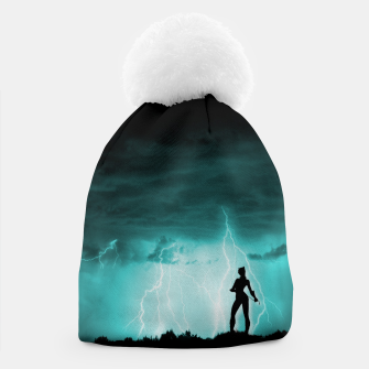 Cat on Stormy Night  Beanie imagen en miniatura