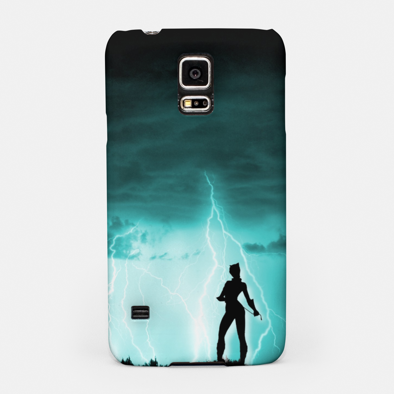 Imagen de Cat on Stormy Night  Samsung Case - Live Heroes
