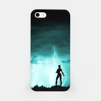 Cat on Stormy Night  iPhone Case imagen en miniatura