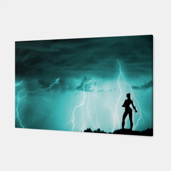 Thumbnail image of Cat on Stormy Night  Canvas, Live Heroes