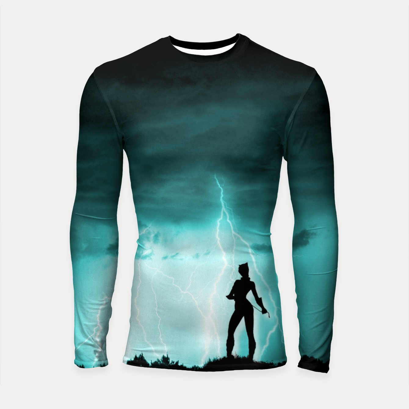 Imagen de Cat on Stormy Night  Longsleeve rashguard  - Live Heroes