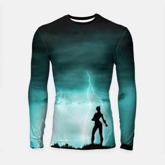 Cat on Stormy Night  Longsleeve rashguard  imagen en miniatura