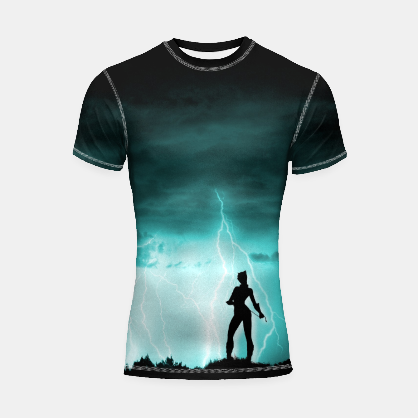 Imagen de Cat on Stormy Night  Shortsleeve rashguard - Live Heroes