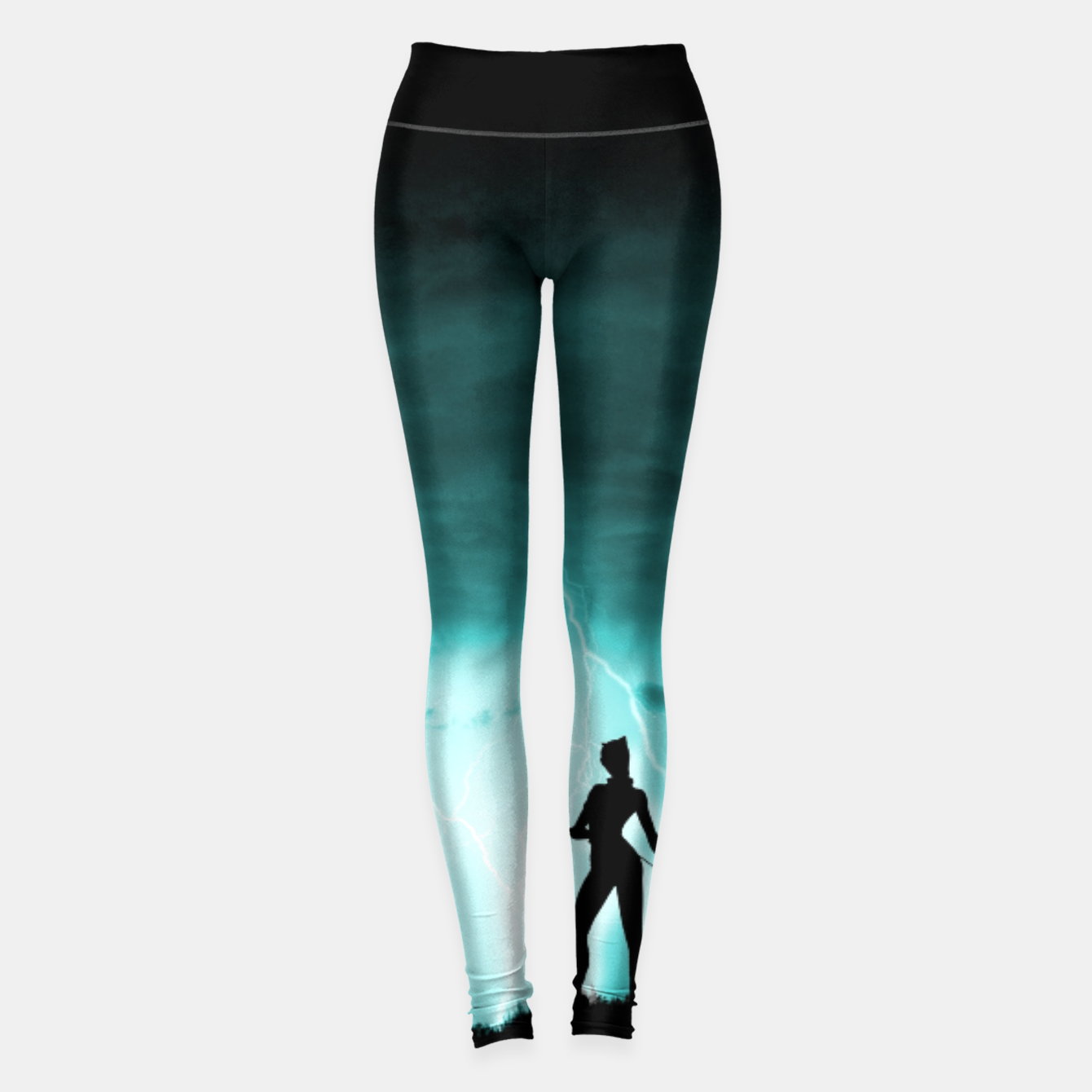 Imagen de Cat on Stormy Night  Leggings - Live Heroes