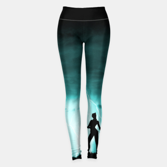 Cat on Stormy Night  Leggings imagen en miniatura