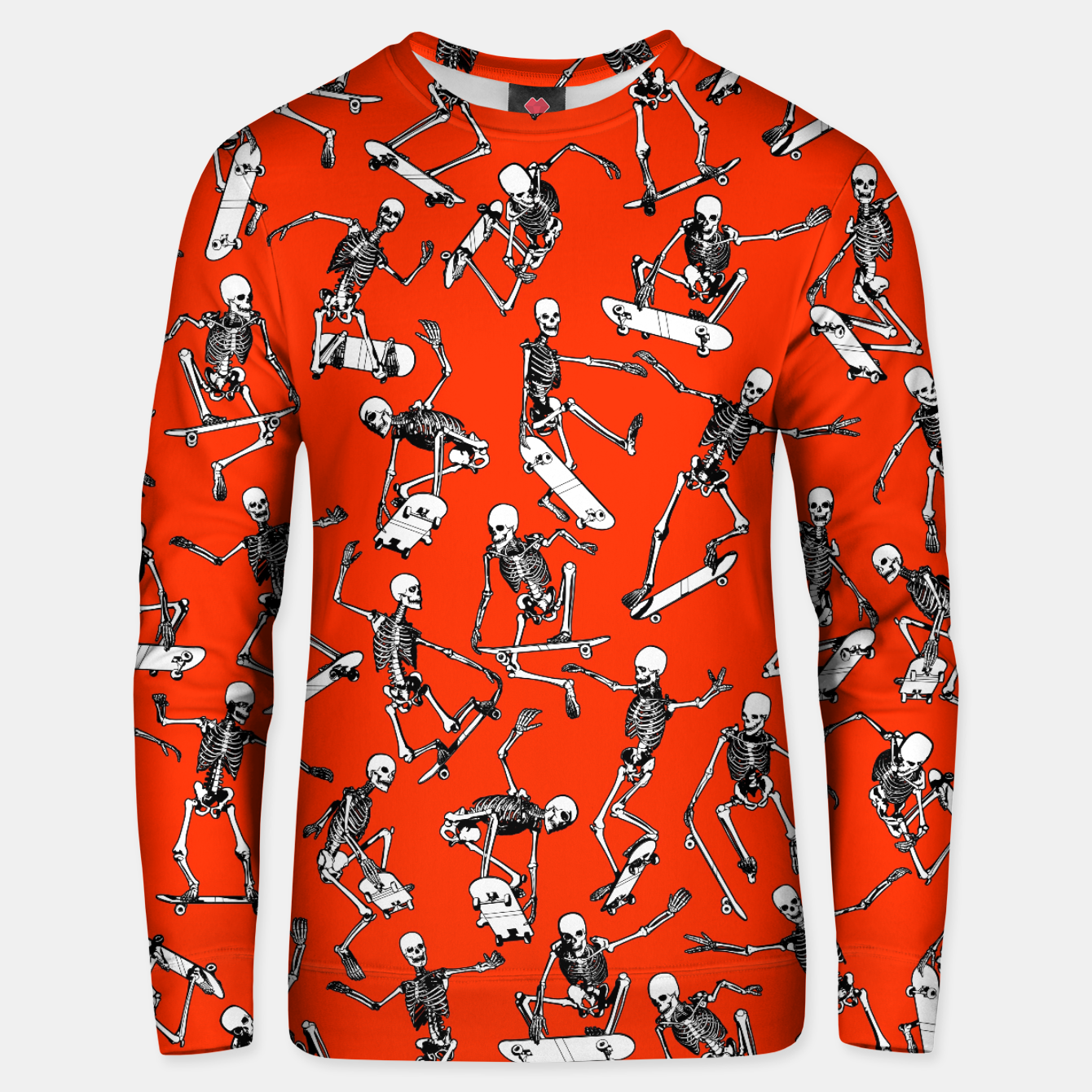 Image of Grim Ripper Skater RED Unisex sweater - Live Heroes