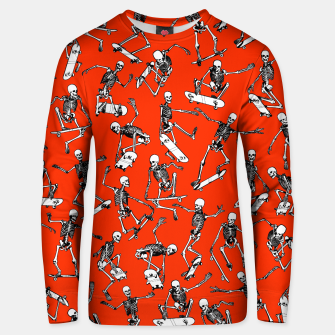 Thumbnail image of Grim Ripper Skater RED Unisex sweater, Live Heroes
