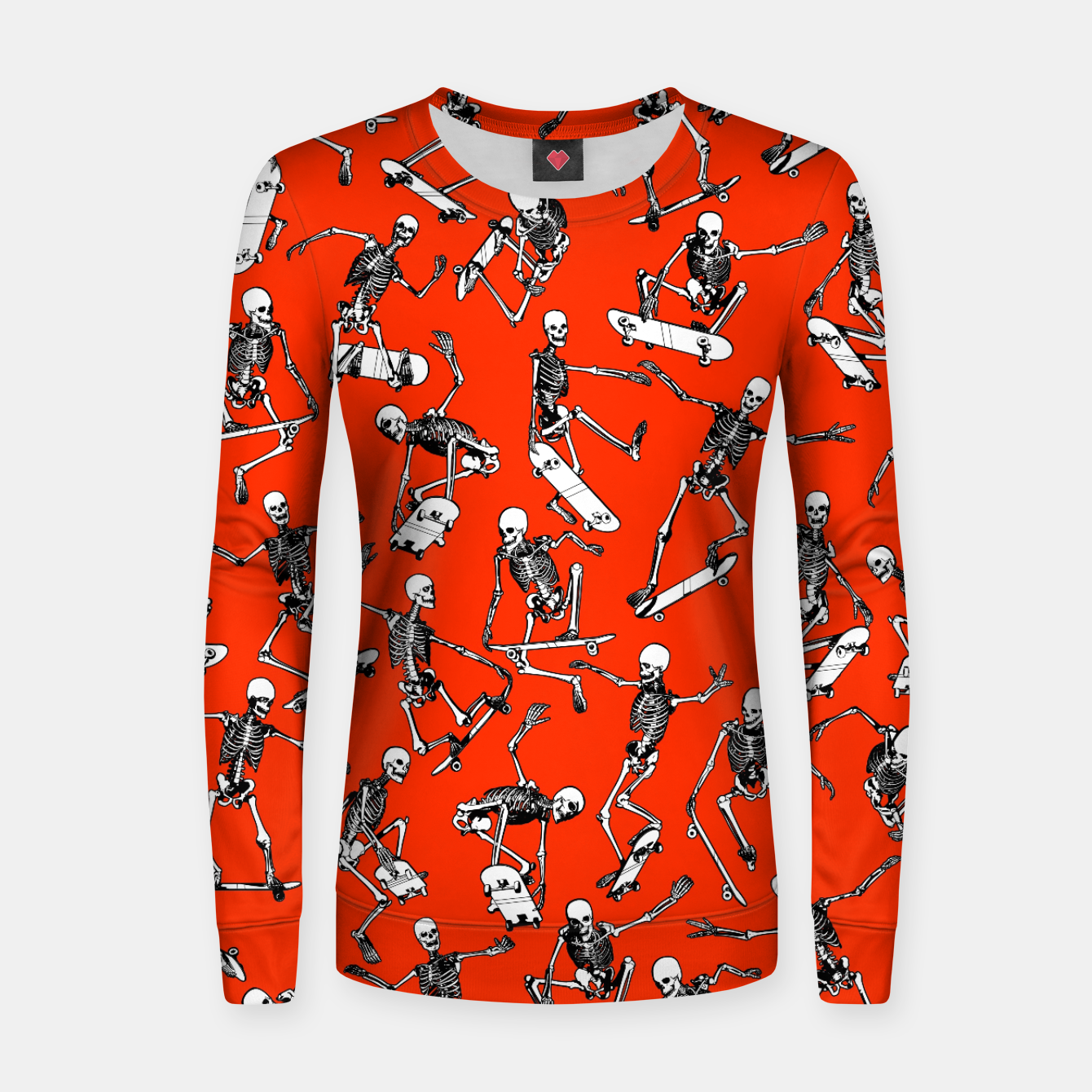 Image of Grim Ripper Skater RED Women sweater - Live Heroes