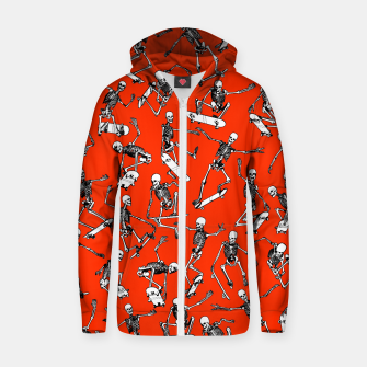 Grim Ripper Skater RED Zip up hoodie thumbnail image
