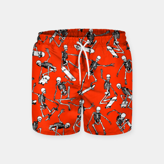Thumbnail image of Grim Ripper Skater RED Swim Shorts, Live Heroes