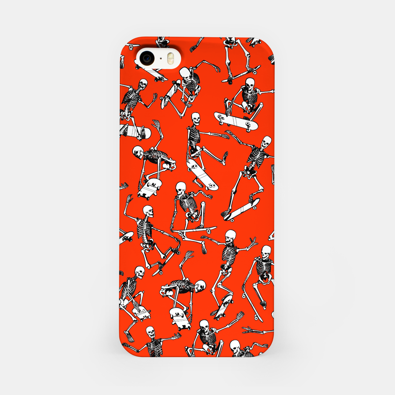 Image of Grim Ripper Skater RED iPhone Case - Live Heroes