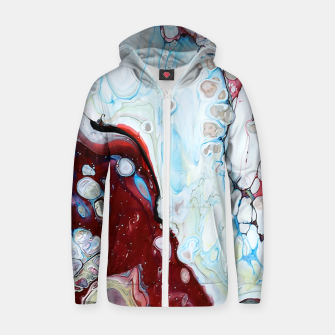 Thumbnail image of Abstract Drop Zip up hoodie, Live Heroes