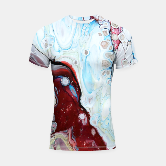 Miniatur Abstract Drop Shortsleeve rashguard, Live Heroes