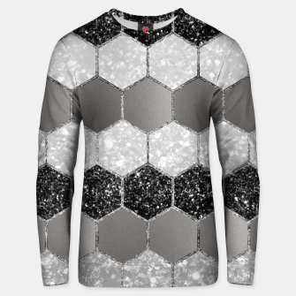 Miniatur Silver Hexagon Glitter Glam #1 #geometric #decor #art Unisex sweatshirt, Live Heroes