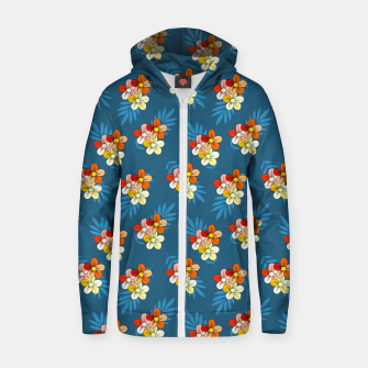 Thumbnail image of Summer Wind Floral Pattern Zip up hoodie, Live Heroes